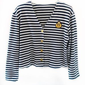 Vintage Christine David Striped Cropped Jacket M